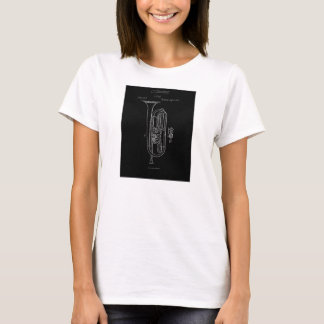 Musical Instrument 'chalk style' Patent Drawing T-Shirt