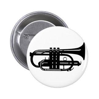 Musical instrument cornet - Musicians Pinback Button