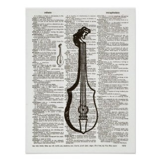 Musical Instrument Dictionary Art Posters