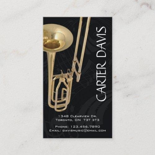 Musical Instrument _ Trombone Business Card