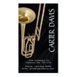 Musical Instrument - Trombone Business Card Templates