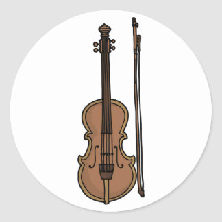 Musical Instrument Violin Doodle Stickers