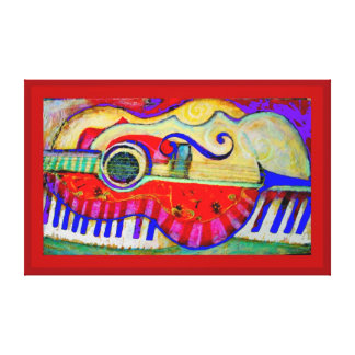 Musical Instruments Abstracted Aet by Sharles Canvas Print