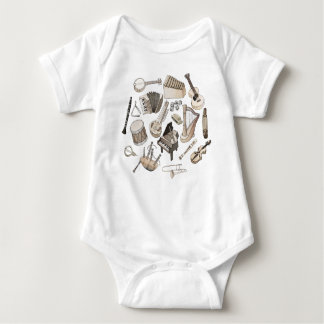Musical Instruments Baby Bodysuit