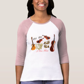 Musical instruments for Women's-T-Shirt-Pink-White T-Shirt