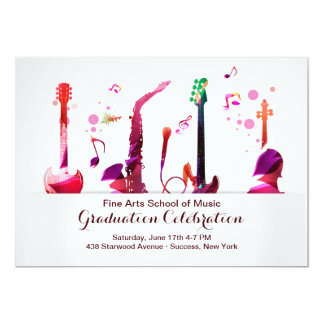 Musical Instruments Invitation