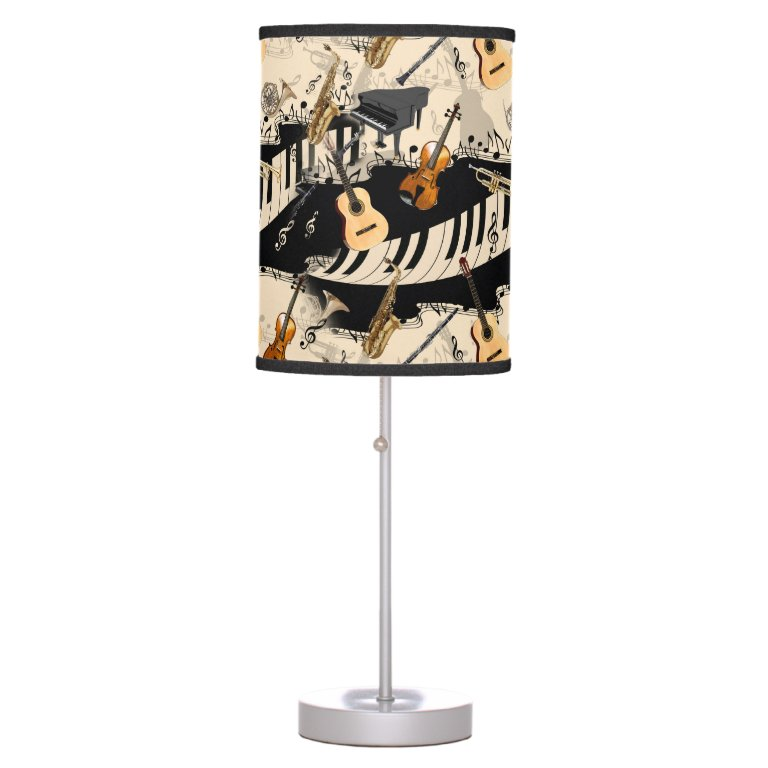 Musical Instruments Lamp Violin Piano Lamp