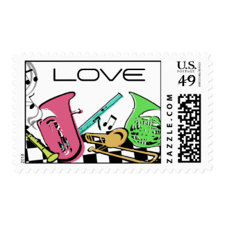 Musical Instruments/ Love Stamps