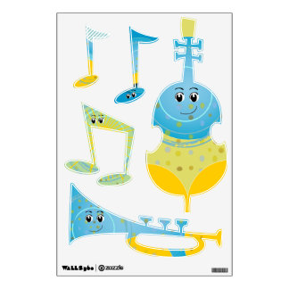 Musical Instruments New Baby Room Wall Stickers
