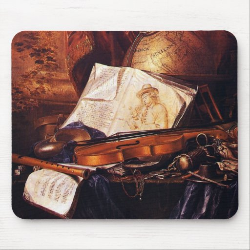Musical Instruments Painting Gifts Mouse Pad