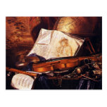 Musical Instruments Painting Gifts Post Card