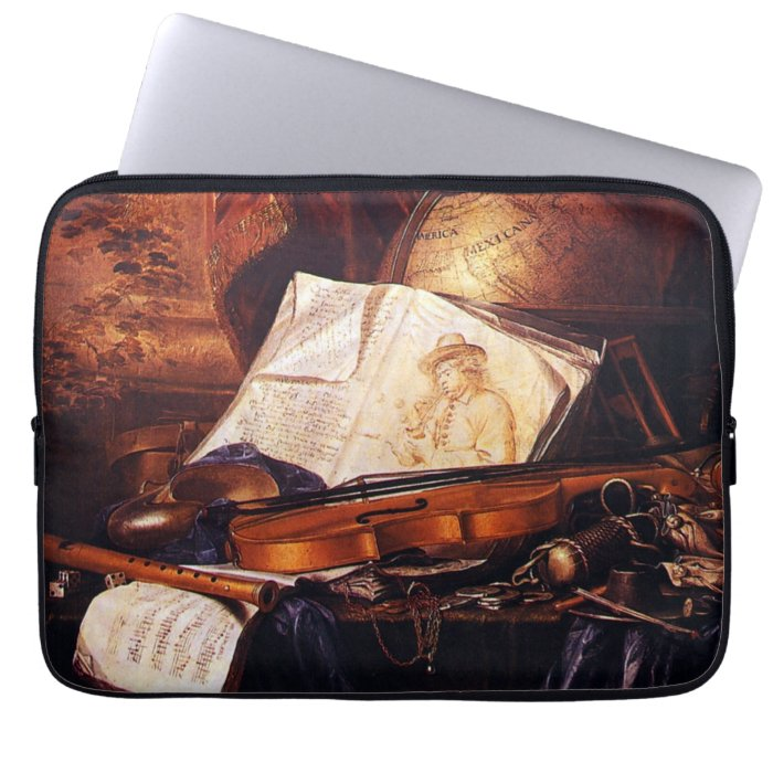 Musical Instruments Painting Vintage Laptop Sleeve