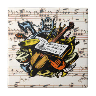 Musical Instruments ~ Rossini Music Background Tile