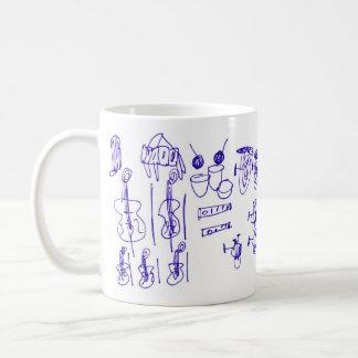 Musical Intruments Classic White Coffee Mug