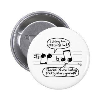 Musical Joke Cartoon Pinback Button