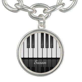 Musical Keyboard Design Charm Bracelet Bracelet