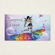 Musical Keyboard Faerie Business Card at Zazzle