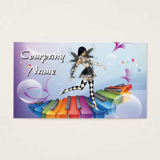 Musical Keyboard Faerie Business Card