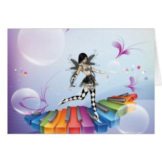 Musical Keyboard Faerie Greeting Cards