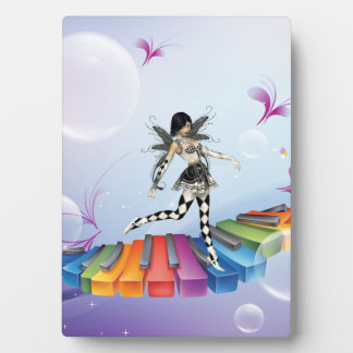 Musical Keyboard Faerie Plaque