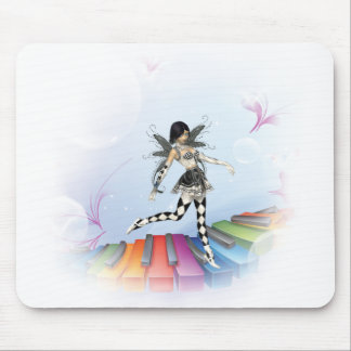 Musical Keyboard Faerie Vignette Mouse Pad