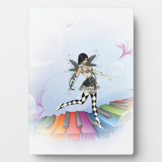 Musical Keyboard Faerie Vignette Photo Plaques