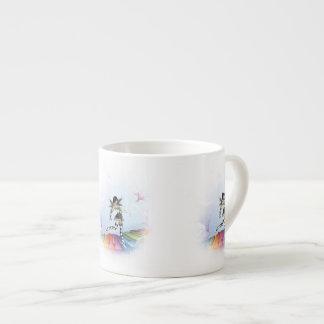 Musical Keyboard Faerie Vignette Espresso Cups