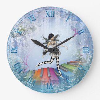 Musical Keyboard Faerie Vignette Wall Clock