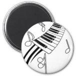 Musical Keys 2 Inch Round Magnet