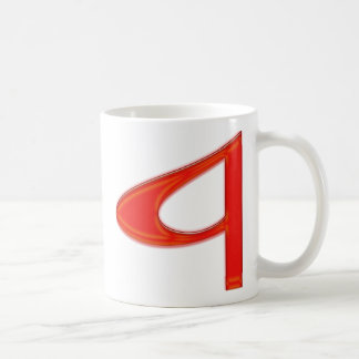 "Musical Letter ""a"" Vibrant Colors Coffee Mug"