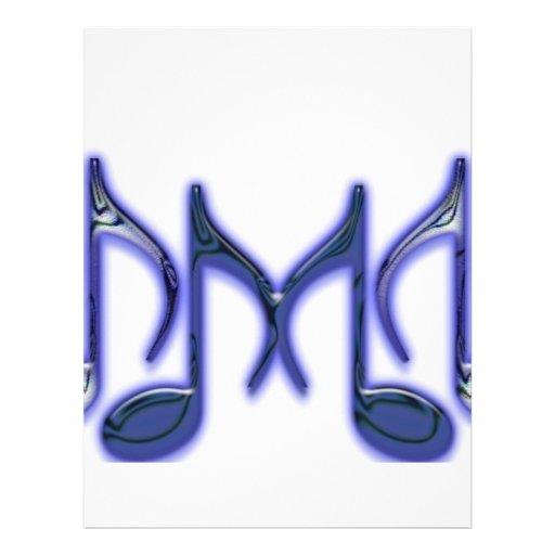 """Musical Letter """"M"""" Letterhead Template"""