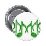 """Musical Letter """"M"""" Pinback Buttons"""