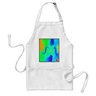 Musical Lifetimes Cello Music Short Cooking Apron