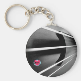 Musical Lifetimes Cello Strings Button Keyring Basic Round Button Keychain