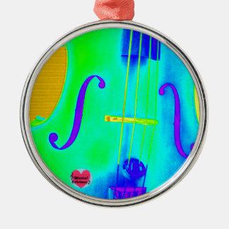 Musical Lifetimes Framed Cirular Cello Decoration Metal Ornament