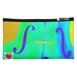 Musical Lifetimes Green Cello Cosmetic Bag
