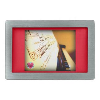 Musical Lifetimes Men's Piano Keys Belt Buckle