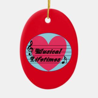 Musical Lifetimes Original Oval Ornament