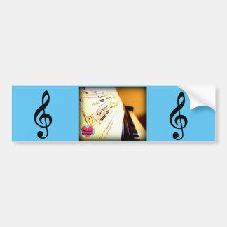 Musical Lifetimes Piano Keys Bumper Sticker