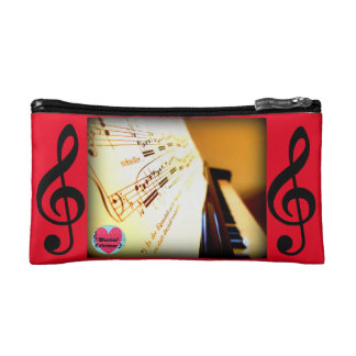 Musical Lifetimes Piano Keys Cosmetics Bag