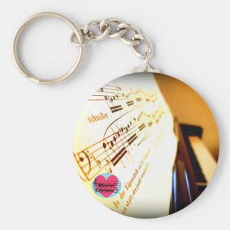 Musical Lifetimes Piano Keys Key Ring Basic Round Button Keychain