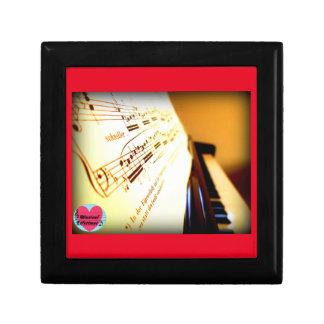 Musical Lifetimes Piano Keys Square Gift Box