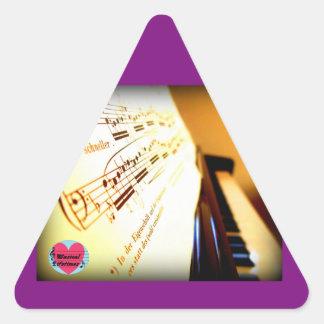 Musical Lifetimes Piano Keys Triangle Sticker