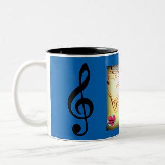 Musical Lifetimes Piano Keys Two-Tone Mug