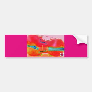Musical Lifetimes Red Cello Bumper Sticker