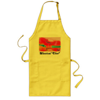 Musical Lifetimes Red Cello Cooking Apron