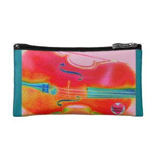 Musical Lifetimes Red Cello Cosmetics Bag
