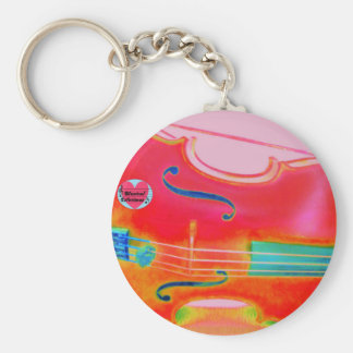 Musical Lifetimes Red Cello Key Ring Basic Round Button Keychain