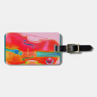 Musical Lifetimes Red Cello Luggage Tag