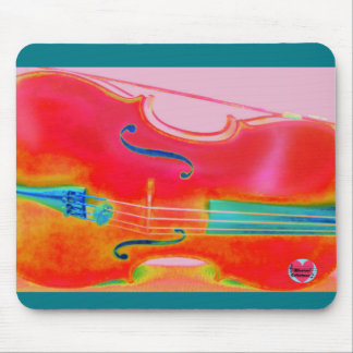 Musical Lifetimes Red Cello Mouse Pad